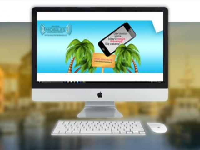 """Baltic Mobiles vasariniai """"Google AdWords"""" reklaminiai skydeliai"""