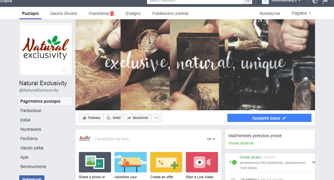 fb natural exclusivity