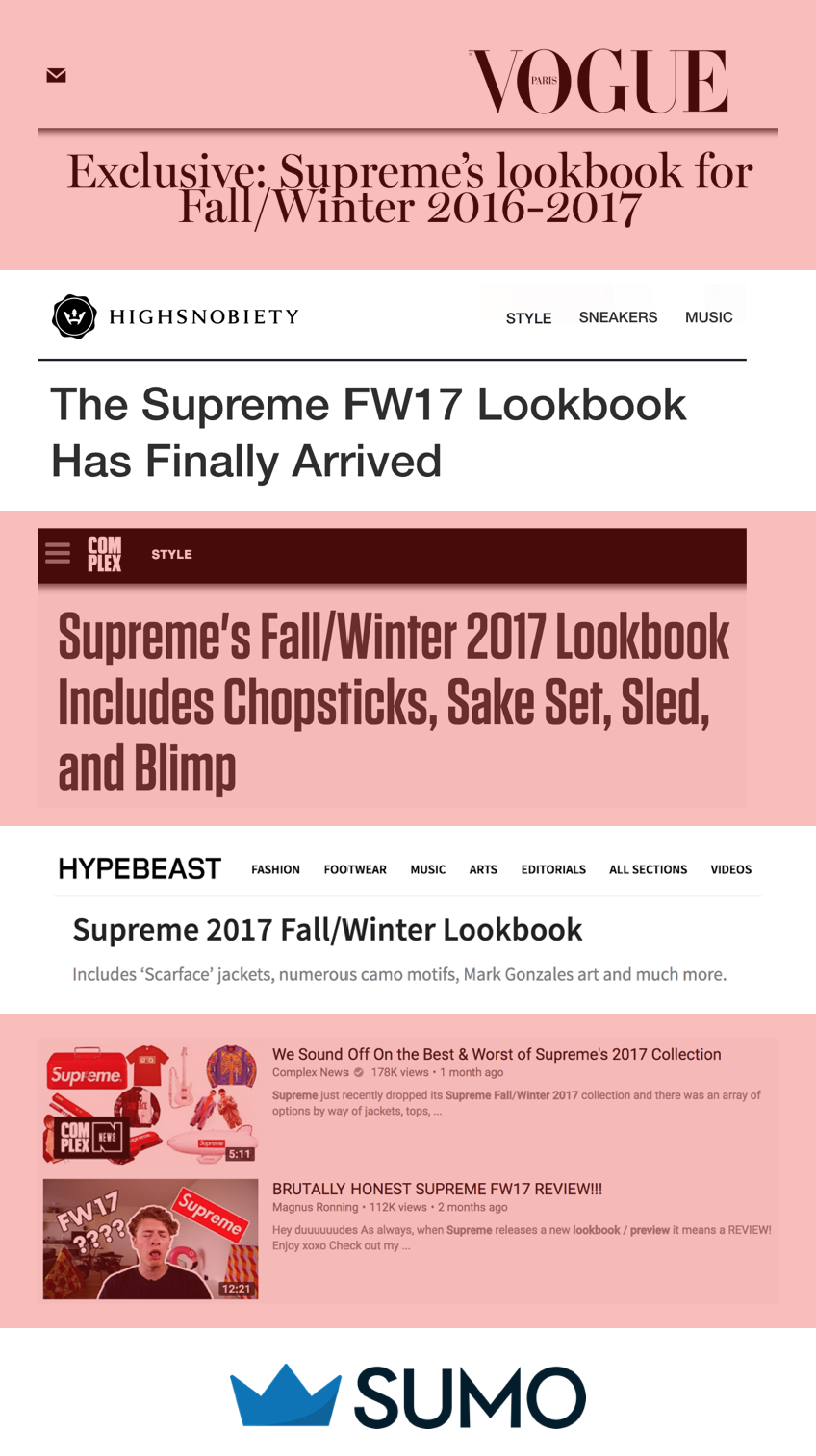 Supreme lookbook turinio strategija